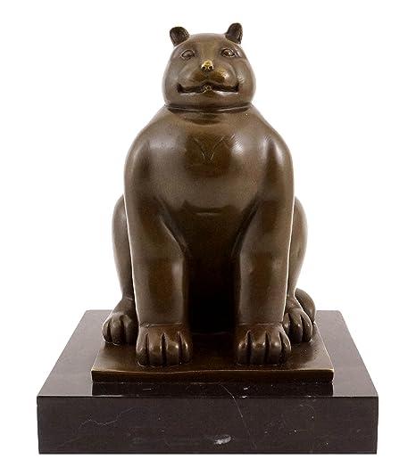 Fernando Botero – Fat Cat/Grasas gato – Escultura de bronce – Firmada – Botero