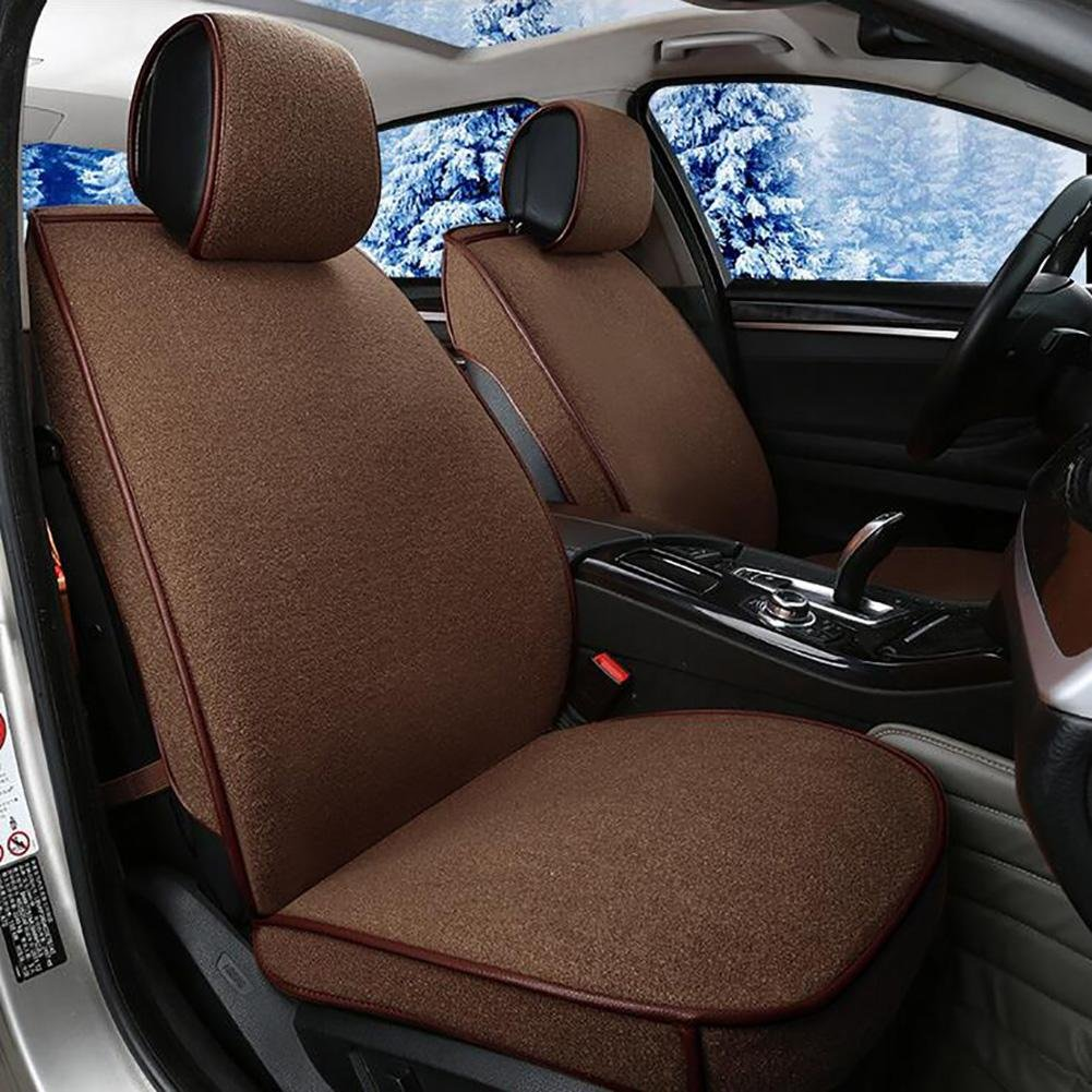 Auto Accessories Flax Car Seat Cushion Seat Cover Seat Four Seasons General Surrounded by A Five Seat-Beige, Brown, A