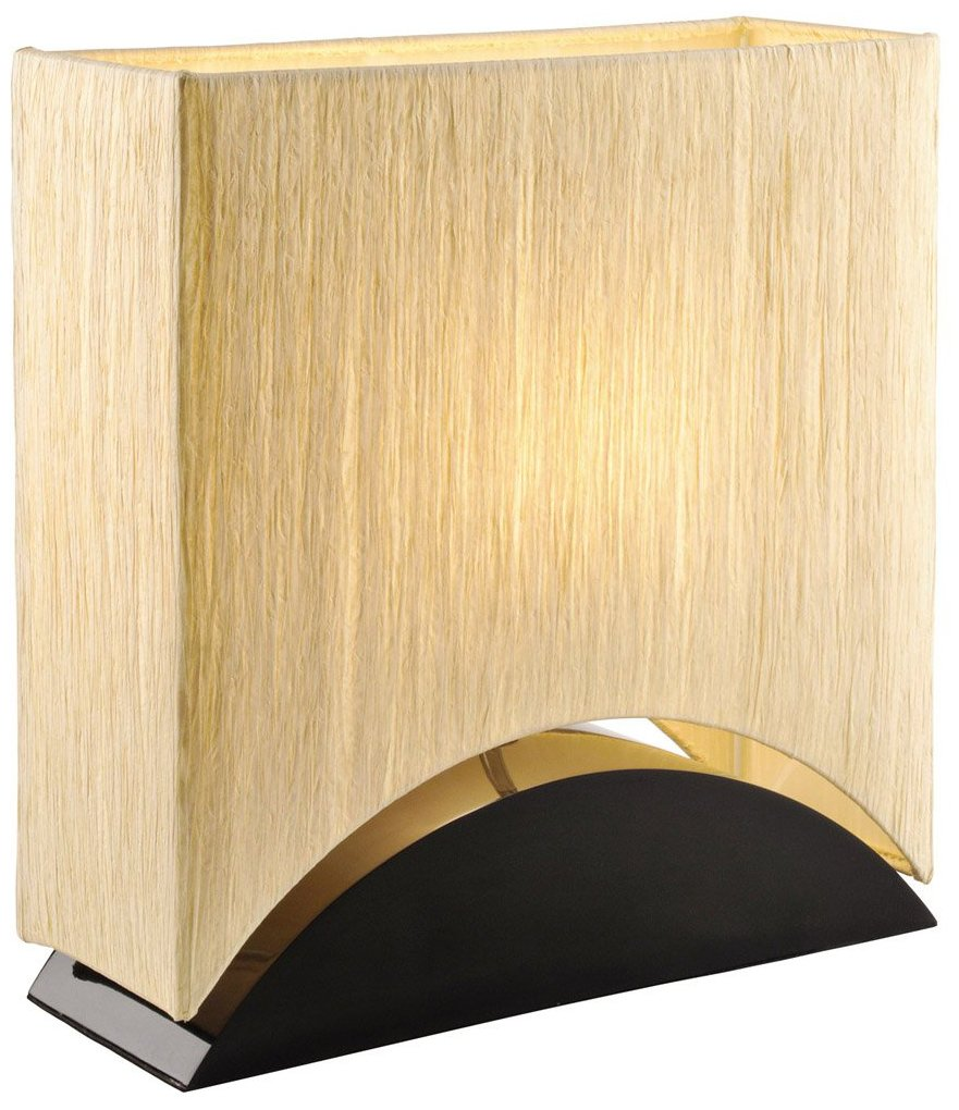 Artiva USA Sakura, Modern & Space-efficient Design, 17-Inch Premium Shade w/Black Lacquer Wood Base Table Lamp - Sakura features a Gold/Natural Premium Shade Finish w/ Heavy, Sturdy Black Lacquer Wood Base. The Gold and Black Combination adds accent into desired area Space Saving Design makes Sakura perfect for any home or office lighting Stylish Oriental, Modern, and Contemporary Design fit into any existing setting - lamps, bedroom-decor, bedroom - 71v8DPYLrTL -