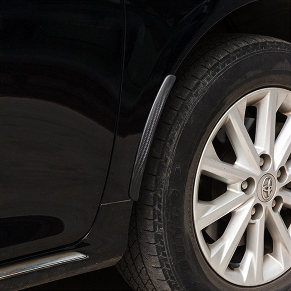 Yinew 2PCS Universal Car Wheel Arch Trims Arches Eyebrow Guard Sticker Scuff Protector Strip Car Styling
