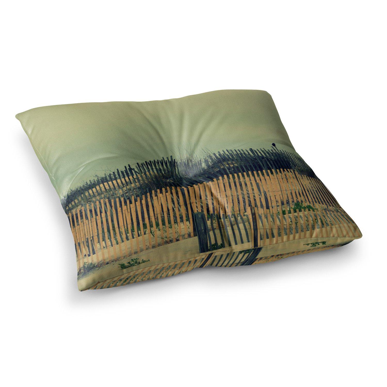 Kess InHouse Robin Dickinson Carova Dunes Beach 23 x 23 Square Floor Pillow
