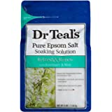 Dr. Teals Epsom Salt Soaking Solution Refresh & Renew with Rosemary and Mint (one 3LB Bag)