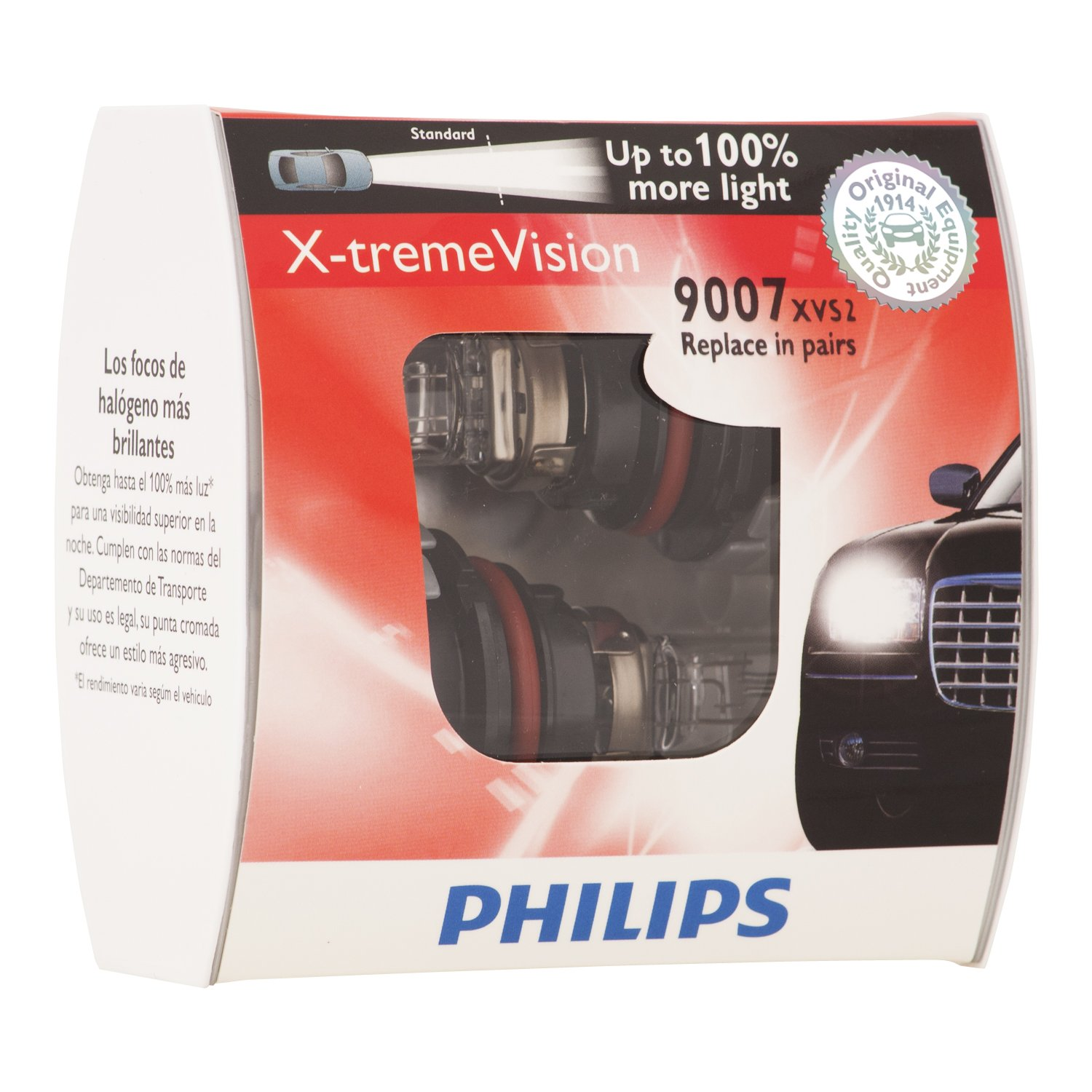 Amazon.com: Philips 9005 X-tremeVision Upgrade Headlight Bulb (Pack of 2): Automotive