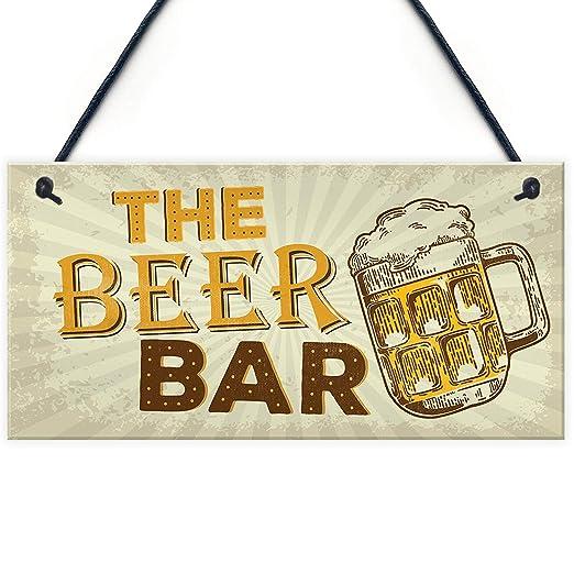 Mr.sign The Beer Bar Cartel de Pared Madera Placa Madera ...