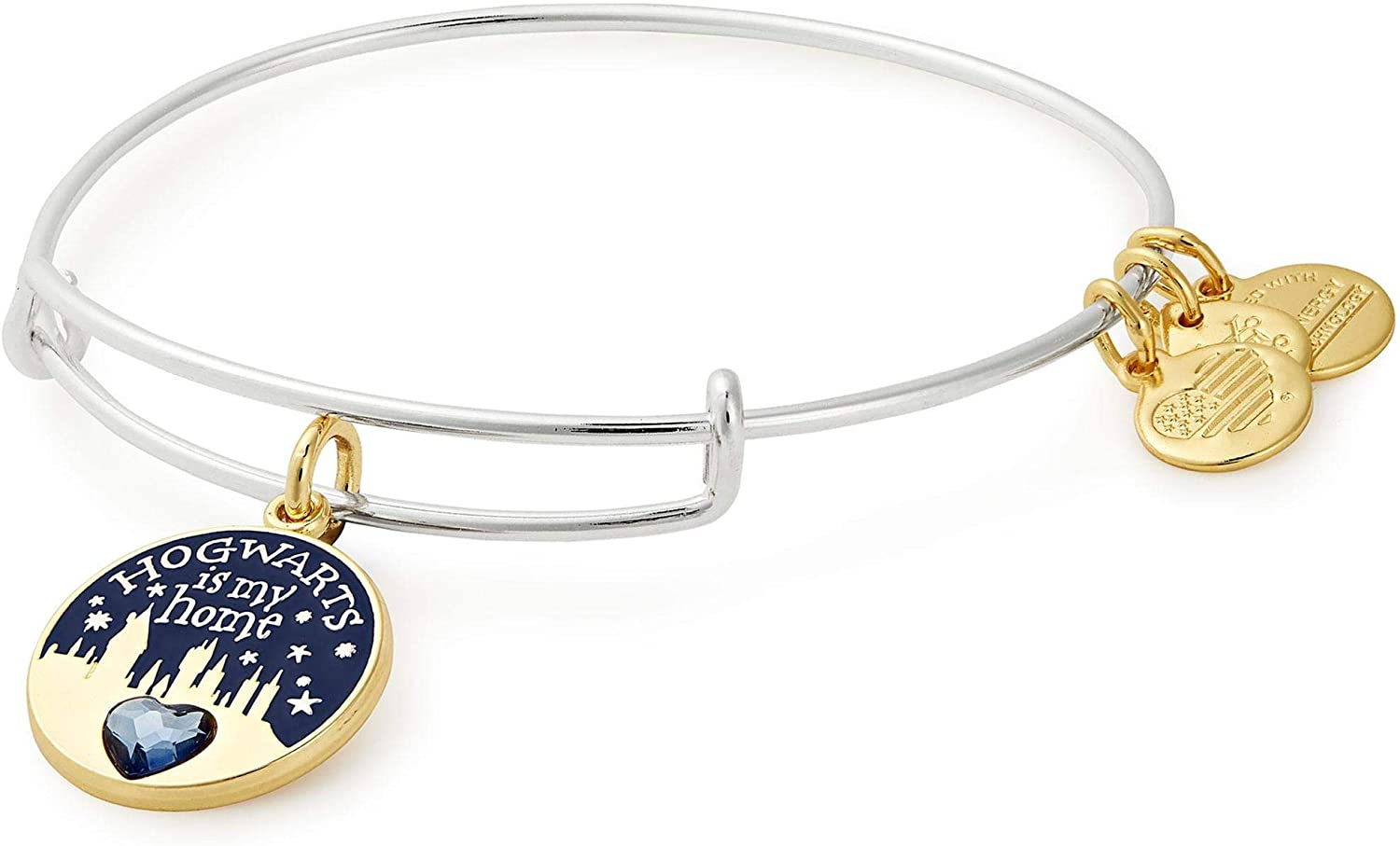 Alex and Ani Womens Harry Potter Hogwarts is My Home Bangle Two-Tone