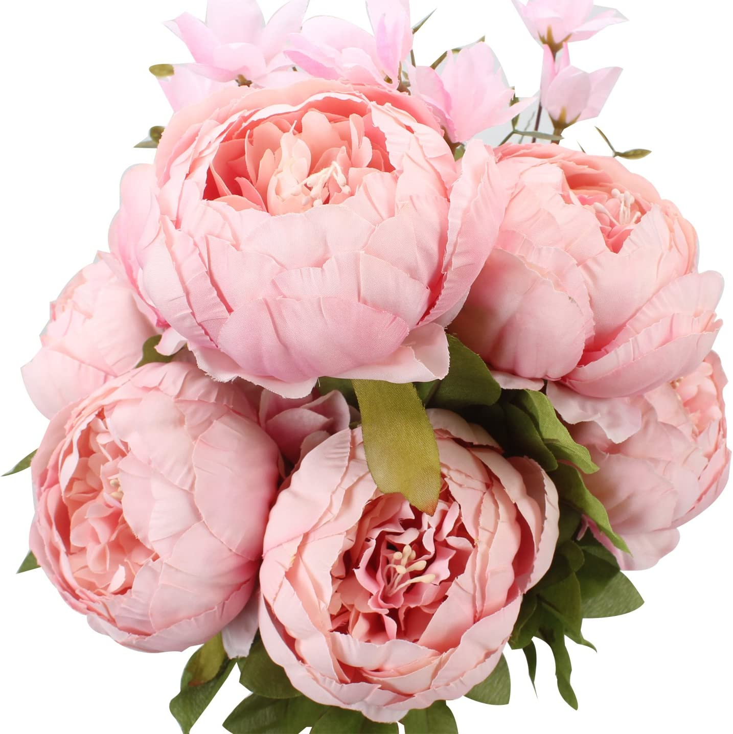 Duovlo Springs Flowers Artificial Silk Peony Bouquets Wedding Home Decoration
