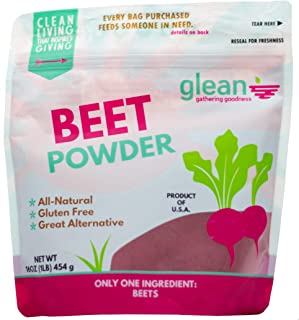 product image for Glean Beet Goodness | Superfood Powder and Gluten Free Beetroot Flour | Paleo, Low Carb, Keto Low Sugar, Low Glycemic Index | 16 oz
