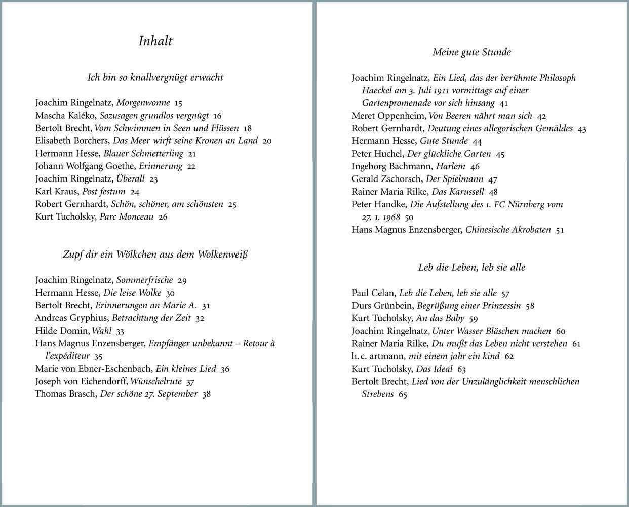 Gedichte Die Glücklich Machen 9783458359975 Amazoncom Books