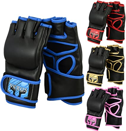 Verus Boxing Training Gloves Gel Sparring MMA Muay Thai Bag Mitts Kickboxing UFC Cage Fighting