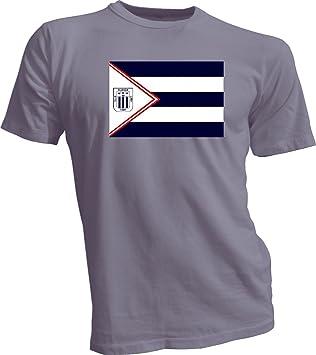 Alianza Lima Perú banderines de futbol fútbol gris T-Shirt camiseta Nuevo Tamaño S-