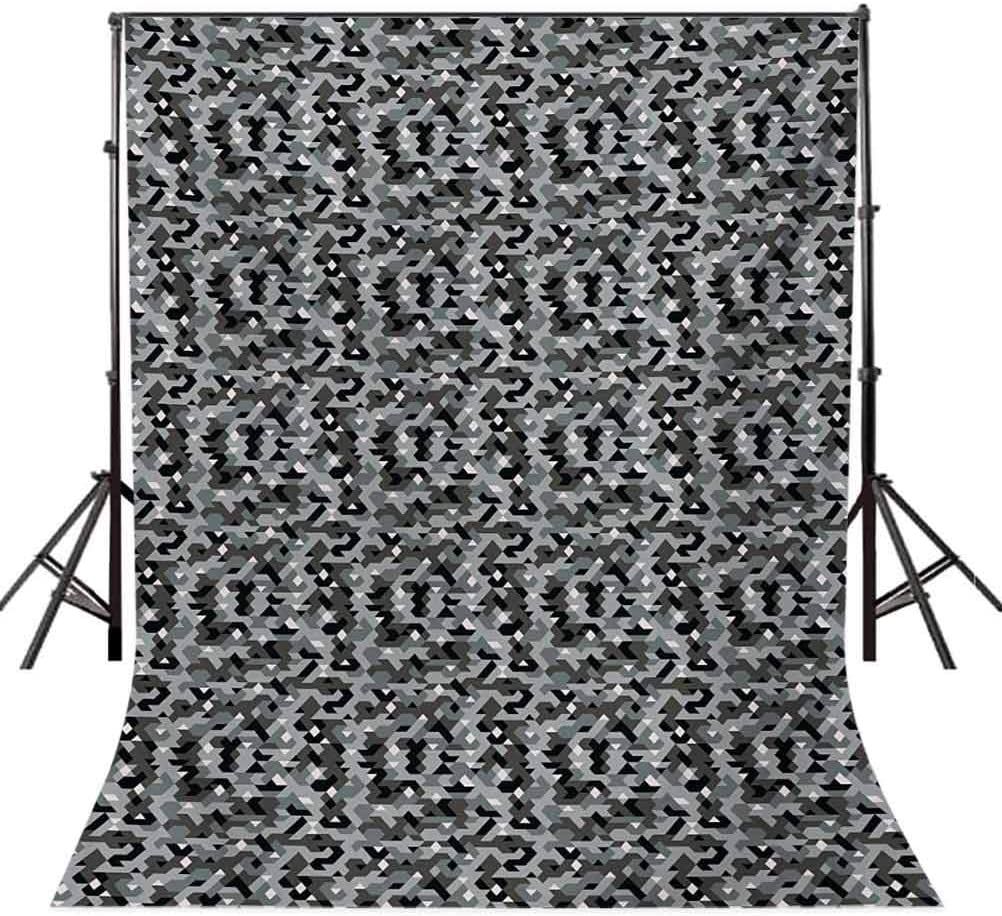 10x12 FT Photography Backdrop Angled Geometric Shapes with Camouflage Pattern Pixel Art Inspirations Background for Kid Baby Boy Girl Artistic Portrait Photo Shoot Studio Props Video Drape Vinyl