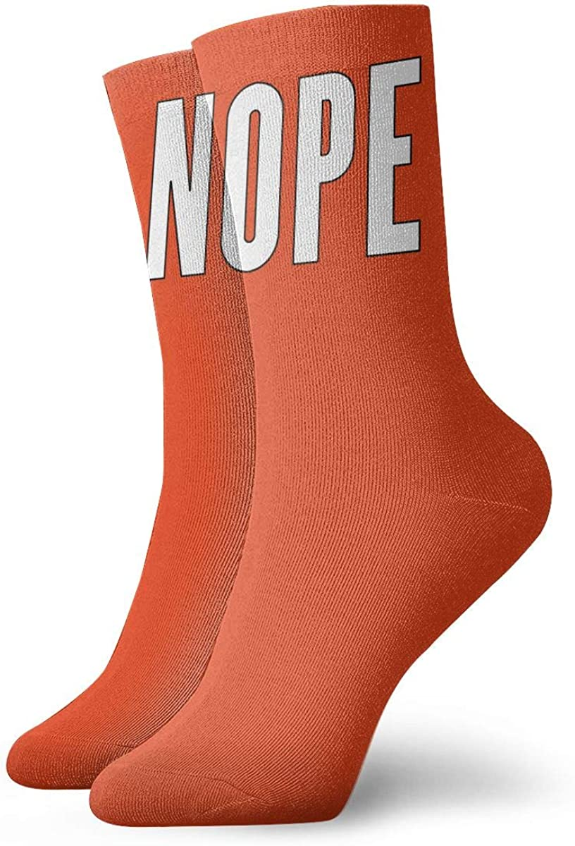 Nope Socks Womens Comfort Crew Sock Mens Moisture Wicking Crew Sock