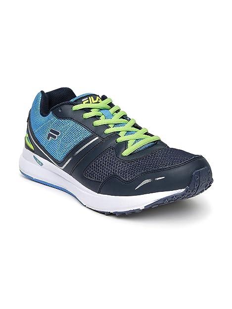 FILA Men Blue   Neon Green Taper Speed Running Shoes (8UK)  Buy ... 8746119f8b3e9