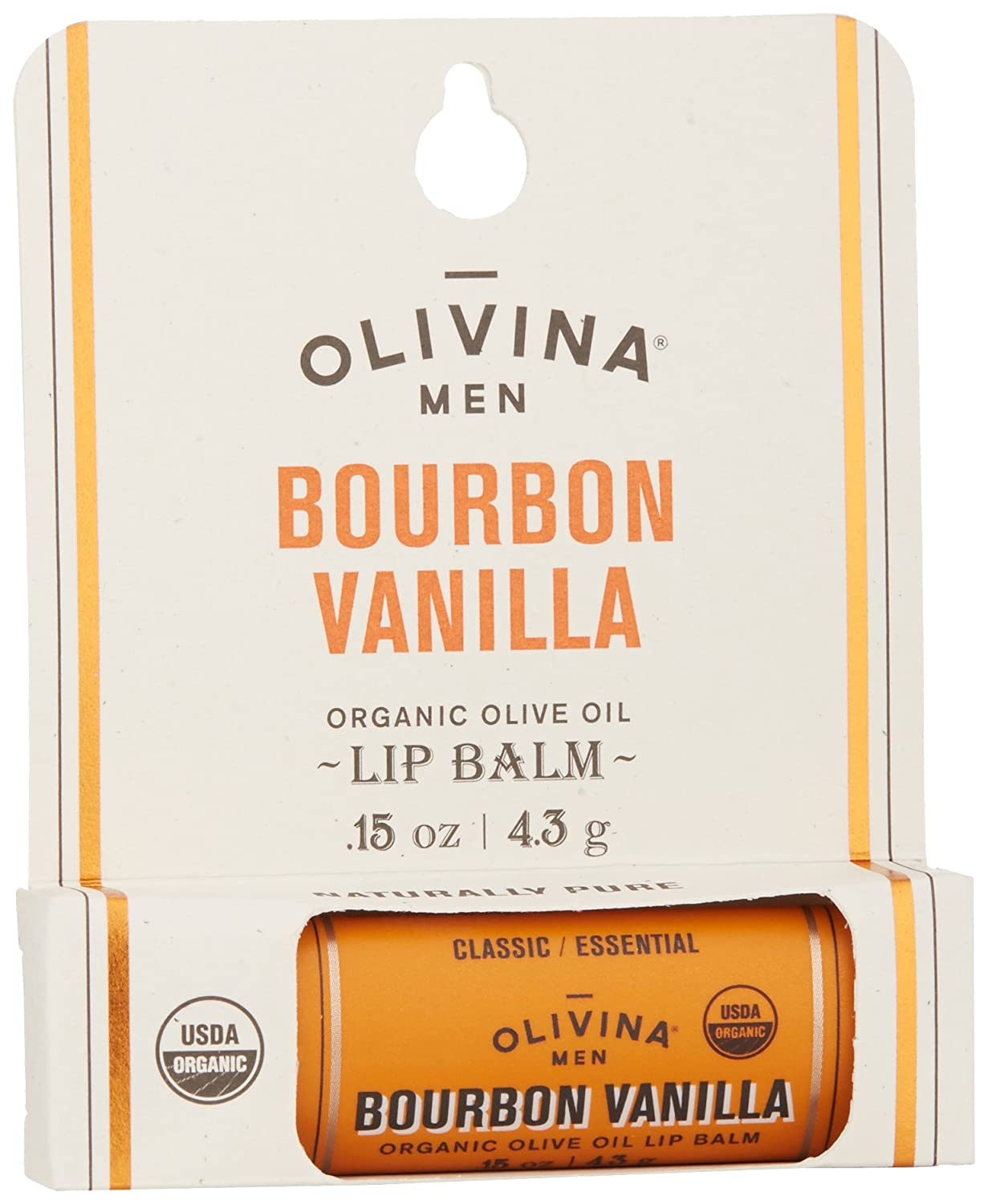Olivina Men - Naturally Pure Organic Olive Oil Lip Balm Bourbon Vanilla - 0.15 oz. (pack of 3) Albion Exage Deep Dew Cream 30g, NEW