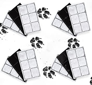 Kenley Pet Fountain Filters for PetSafe Drinkwell - Pack of 12 Activated  Carbon Replacement Charcoal Filter Cartridges for Cat Dog Water Drink