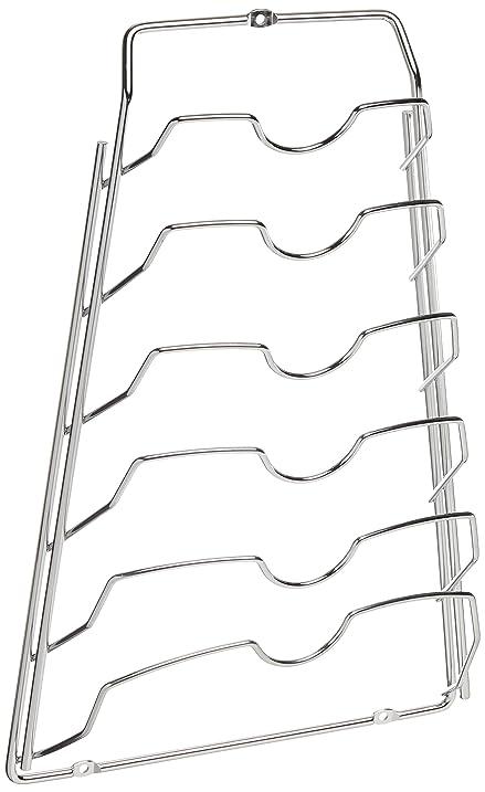 Organize It All Cabinet Door Lid Rack, Chrome Finish