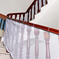 Banister Guard, Safe Rail, Deck Balcón y escalera red de seguridad para interior y exterior 10 pies de largo x 2.5 pies…
