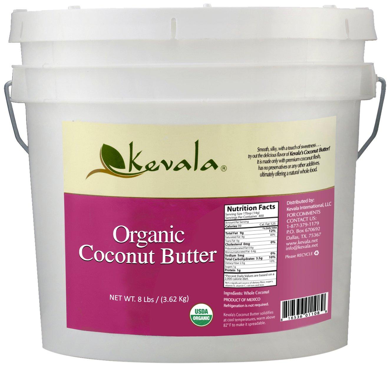 Kevala Organic Coconut Butter, 8 Pound