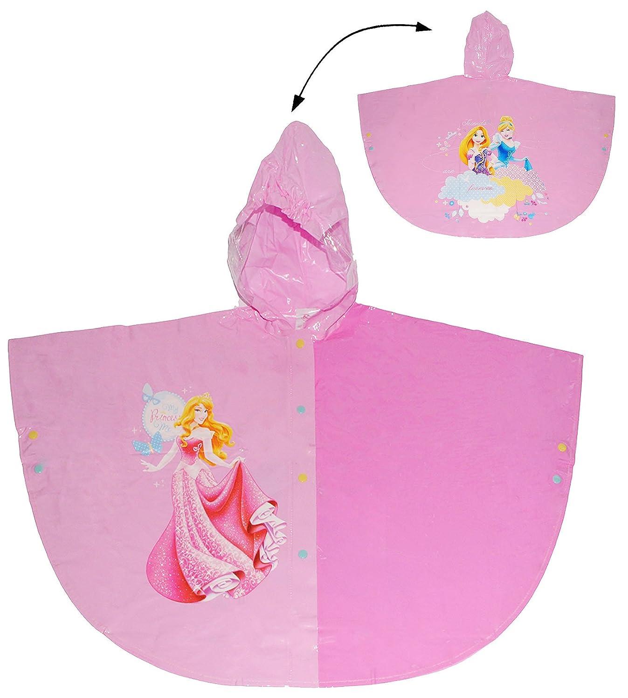 Gr Disney Princess M/ädchen 110 Unbekannt Regencape // Regenponcho Circa 3 bis 4 Jahre Prinzessin f/ür Kinder Rapunzel Cinderella Aurora FA.. 98-104