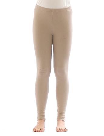 yeset Kinder Thermo Mädchen Leggings Leggins Hose lang aus Baumwolle Fleece Futter