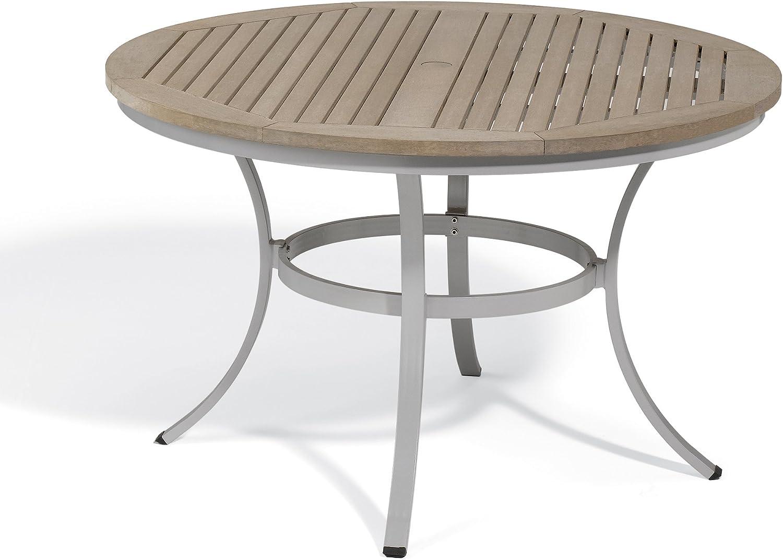 "Oxford Garden - Travira Collection Round Dining Table Tekwood, 48"", Vintage"