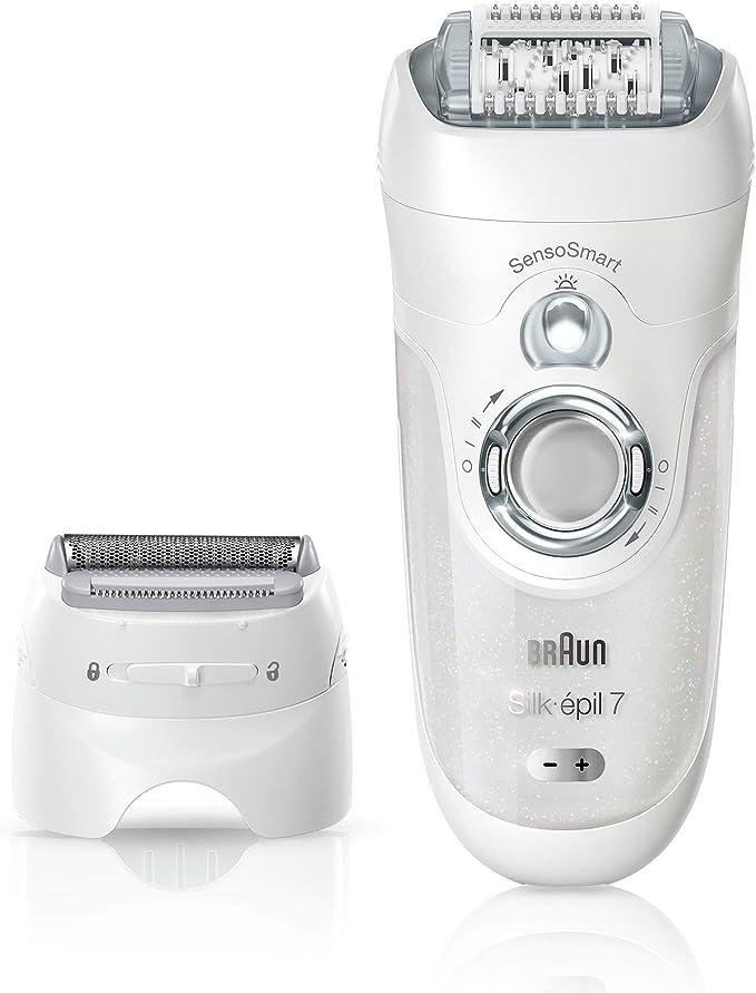 ماكينة إزالة الشعر براون سيلك من براون، بدون سلك مع 7 ملحقات – (SES 7880)