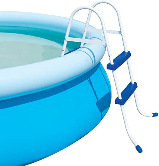 """FiNeWaY@ 2 STEP BLUE POOL LADDER STEPS FOR INFLATABLE PADDLING SWIMMING  POOL OUTDOOR 33"""""""