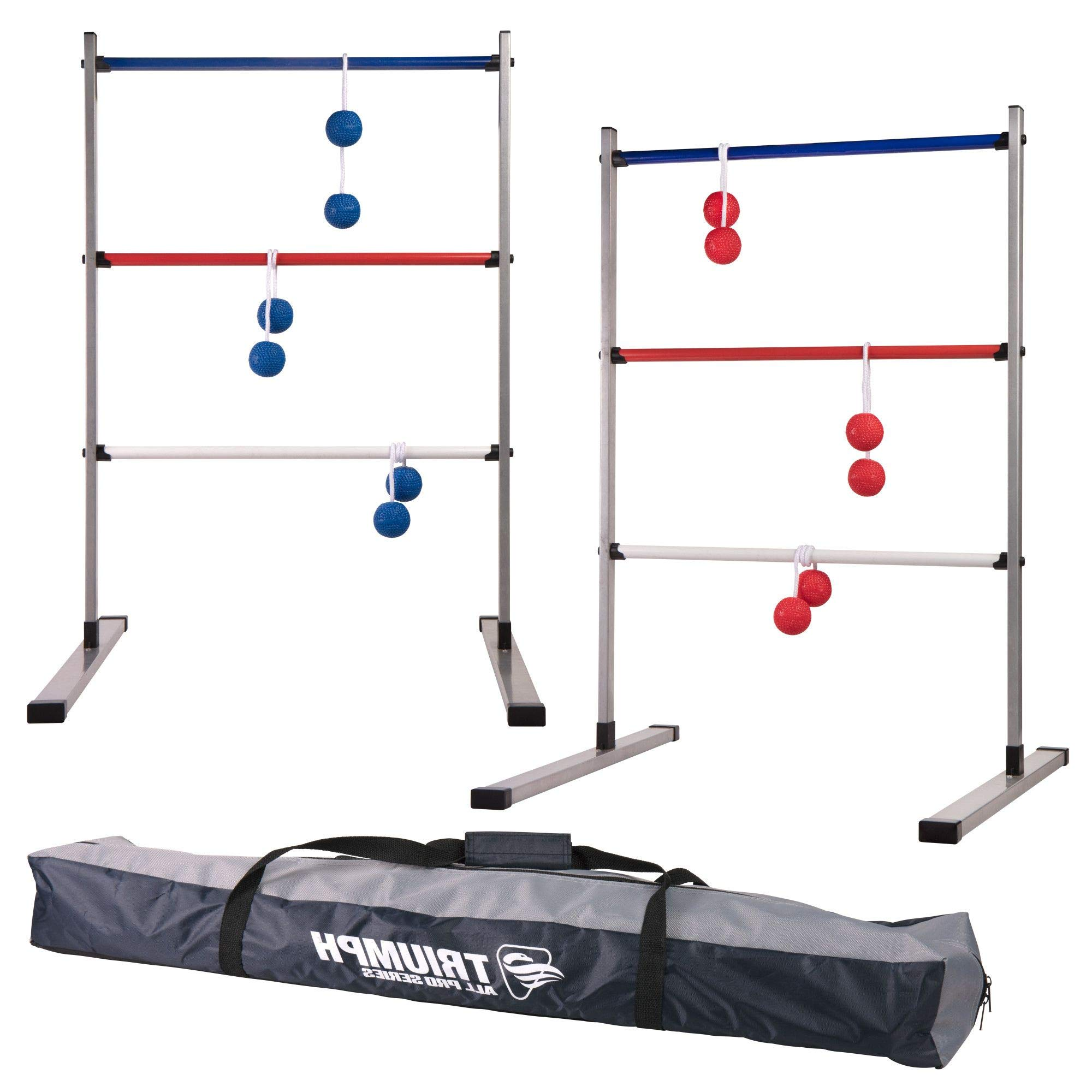 HealthyBells All Pro Series Press Fit Outdoor Ladderball Set Includes 6 Soft Ball Bolas and Durable Sport Carry Bag