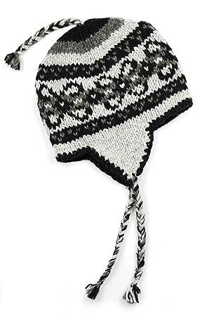 TCG Women s Hand Knit Wool Vintage Pattern Sherpa Hat at Amazon ... 242414cae9f6