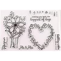 arriettycraft Bloemen bruiloft verjaardag wensen liefde duidelijke stempels voor kaarten maken decoratie en Scrapbooking