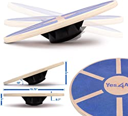 Yes4All Wobble Balance Board – Exercise Balance Stability Trainer for Physical Therapy, Standing Desk
