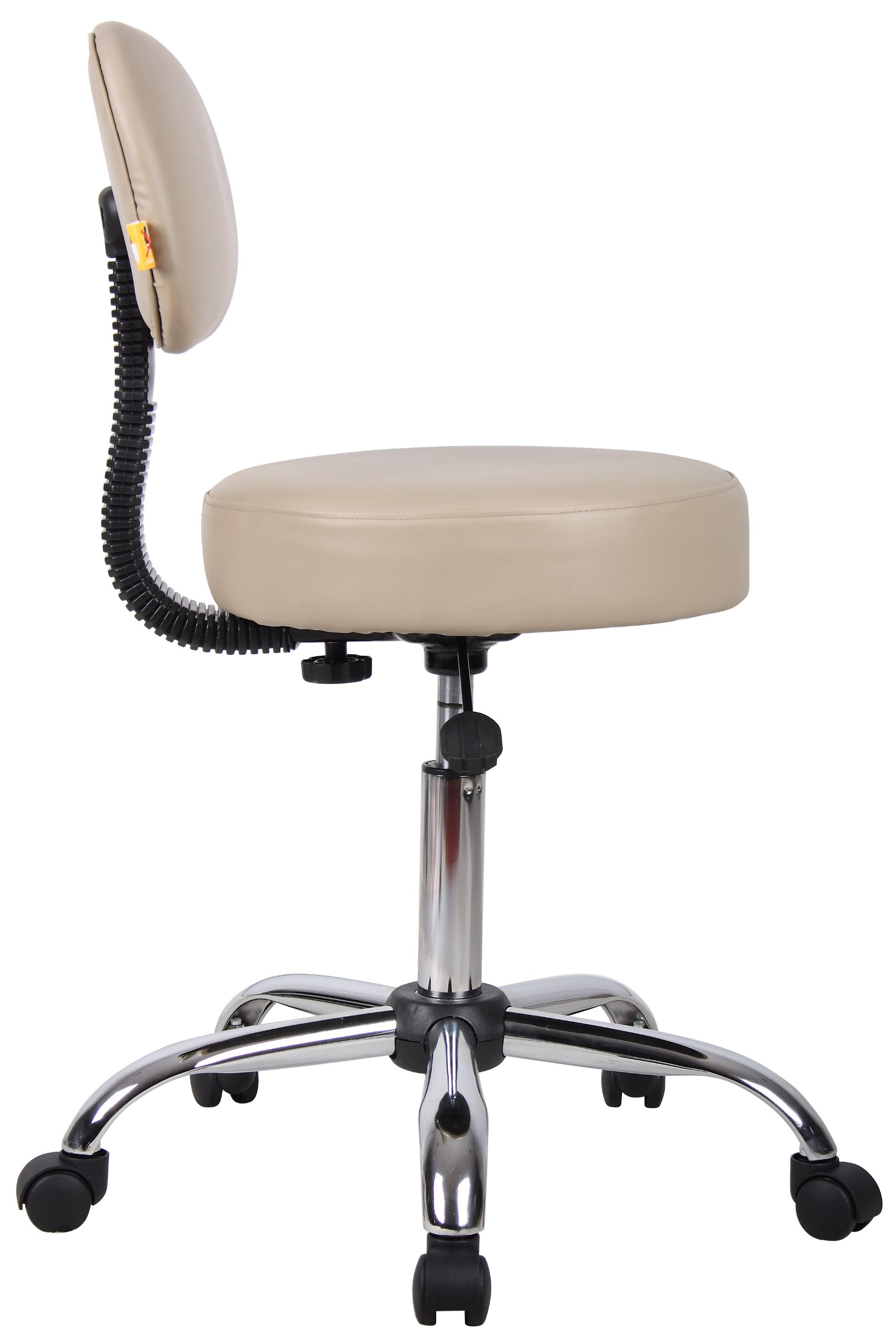 Boss Office Products B240-BG Be Well Medical Spa Stool in Beige