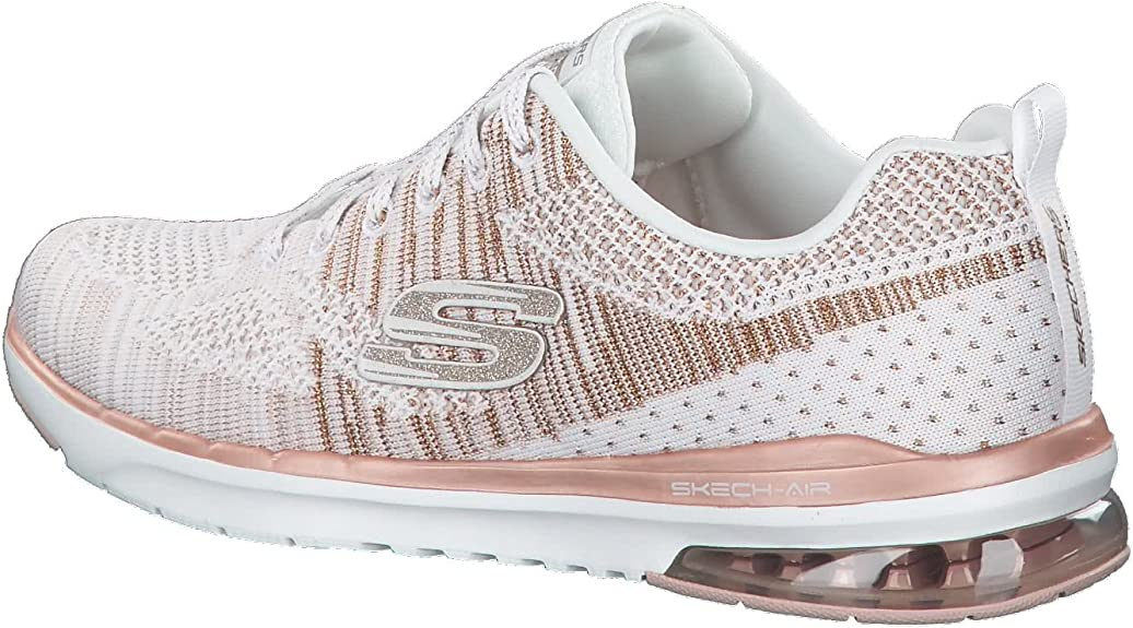 skechers air infinity white rose gold