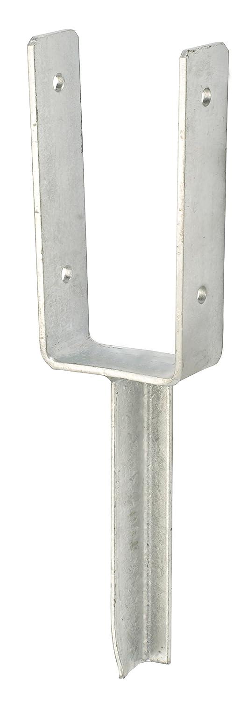 GAH-Alberts 216801 U-Pfostenträ ger mit Betonanker aus T-Eisen - feuerverzinkt, lichte Breite: 121 mm