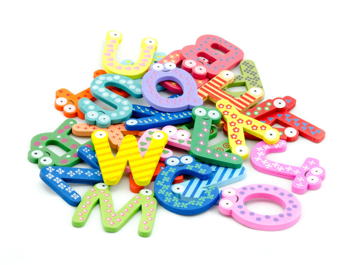 Tinxs Funky Fun Colorful Magnetic Letters A-Z Wooden Fridge Magnets Kid toys Education HO-47