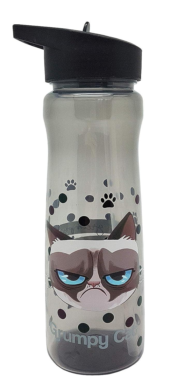 Grumpy Cat Bouteille de Boissons, Plastique polypropylè ne, Noir, Taille Unique Plastique polypropylène DNC UK Ltd 1325 1380A4