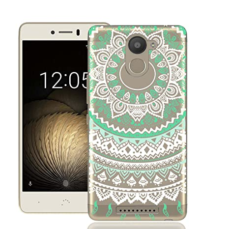 Funda BQ U Plus, Aquaris U Plus Funda Flor de arte verde ...