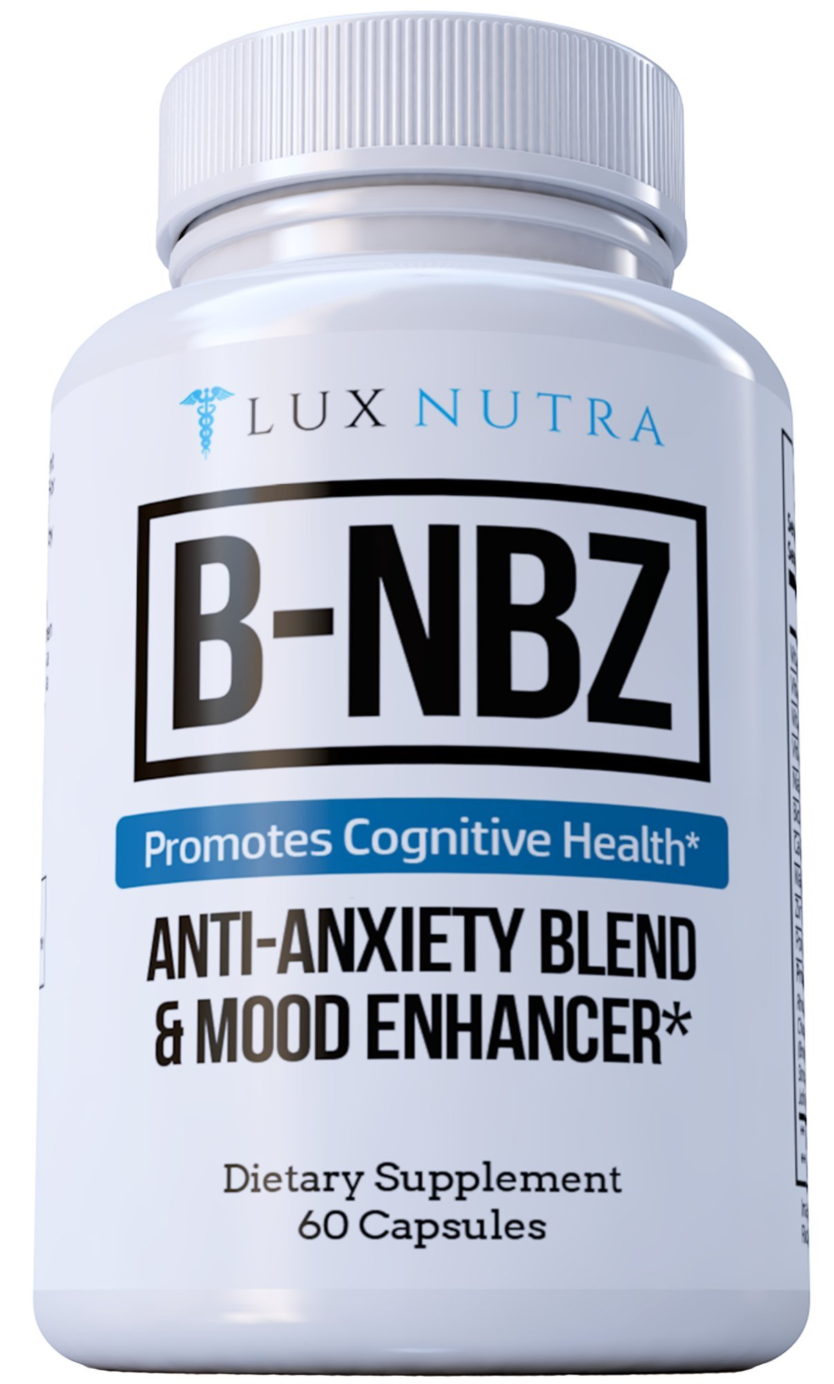 B-NBZ ANTI-ANXIETY BLEND AND MOOD ENHANCER - Anxiety Supplement & Panic Attack Relief - Amazing Anxiety Natural Supplements & Panic Attack Herb - B Vitamins, Niacin, Biotin, Zinc, 5HTP #1 Anxiety 2018