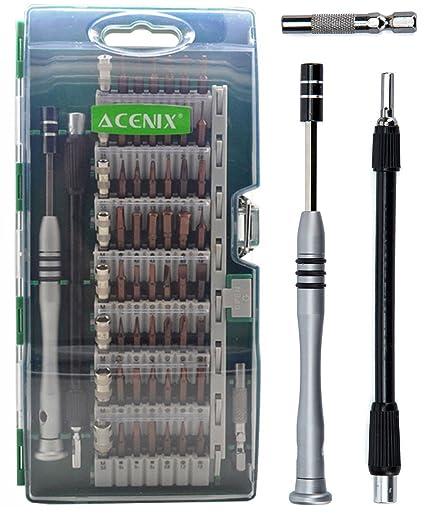 ACENIX® 60 en 1 [versión actualizada de S2] Set de destornilladores ...
