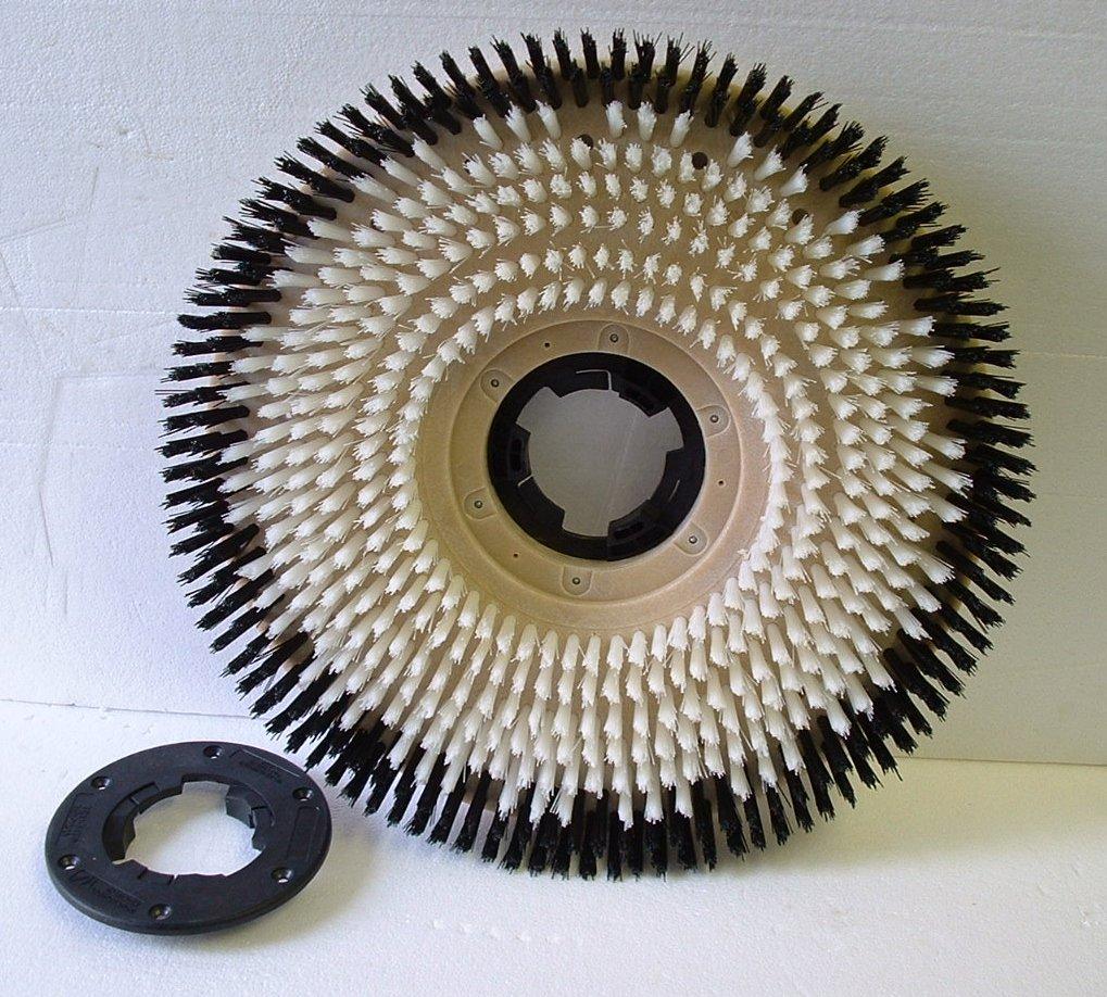 17'' Machine Nylon shampoo brush w/plate