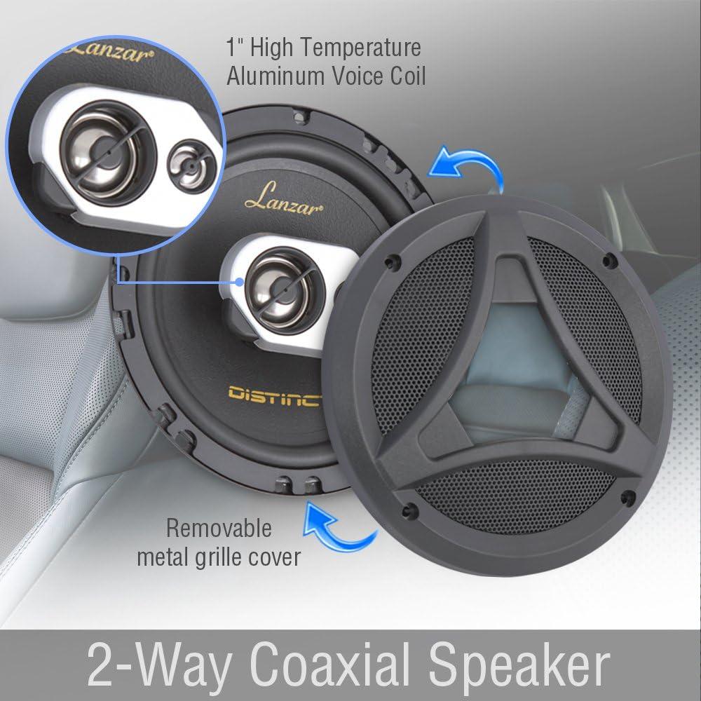 Lanzar DCT65.3 Distinct Series 6.5-Inch 200-Watt 2-Way Coaxial Speaker Set of 2