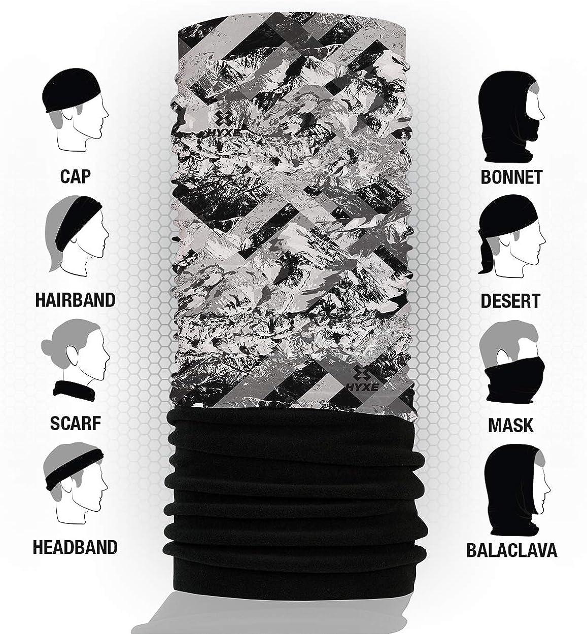 Erkl/ärungsvideos f/ür 10 Tragevarianten Kopftuch HYXE Original Fleece Multifunktionstuch Unisex Halstuch Schal nahtloses Schlauchtuch
