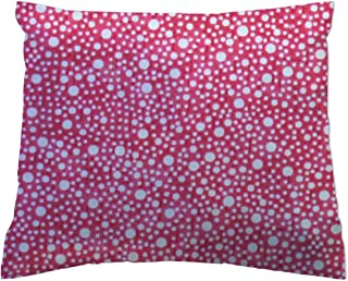product image for SheetWorld Crib Toddler Pillow Case, 100% Cotton Woven, Confetti Dots Hot Pink, 13 x 17, Made in USA