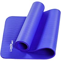 Límite-MX Tapete de Yoga Antideslizante con Material ecológico NBR Agarre de alto rendimiento, acolchado ultra denso…