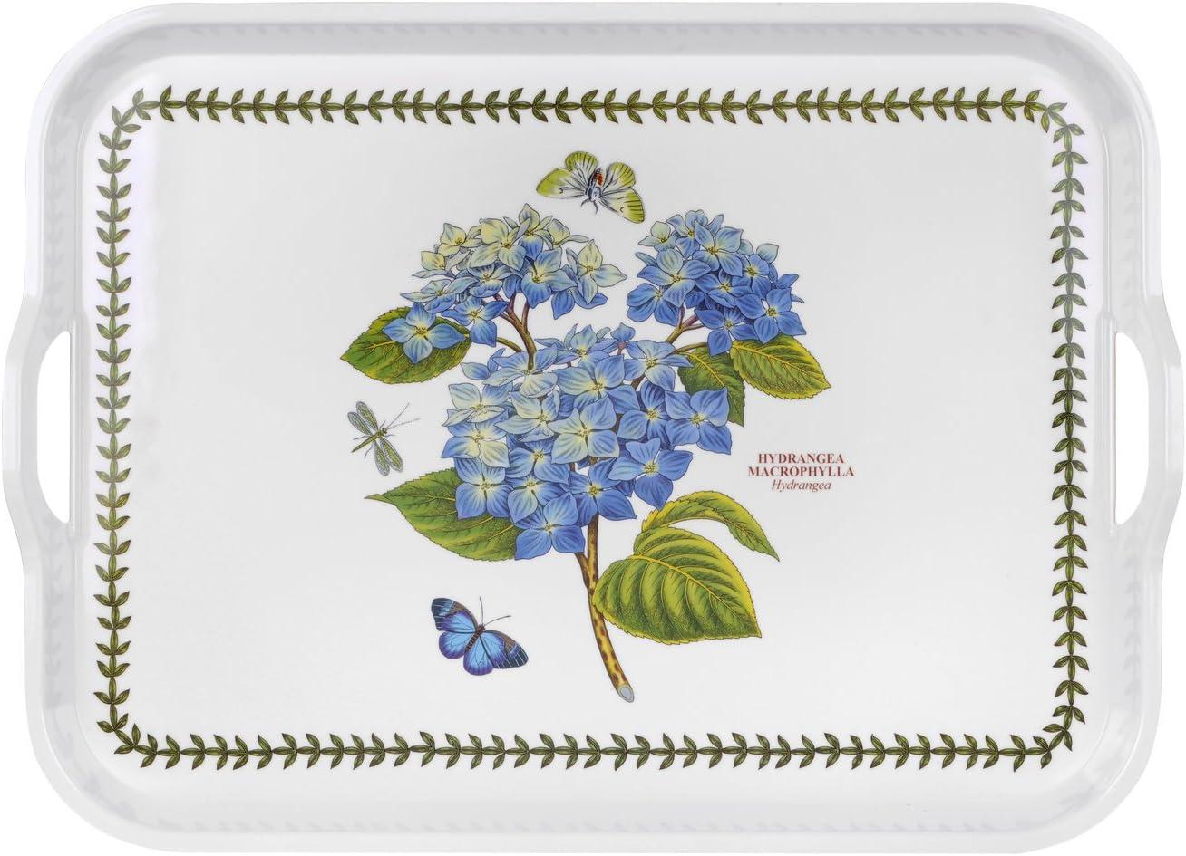 Portmerion Botanic Garden Hydrangea Handled Serving Tray 52cm by 38cm