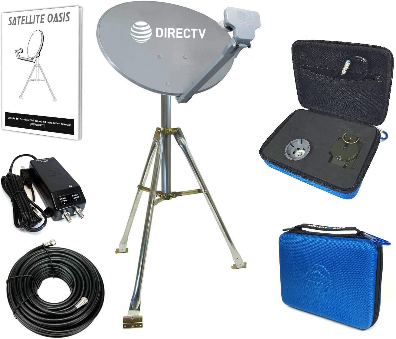 DIRECTV Natación Funda para RV Kit Trípode para antena parabólica portátil SWM sl3s