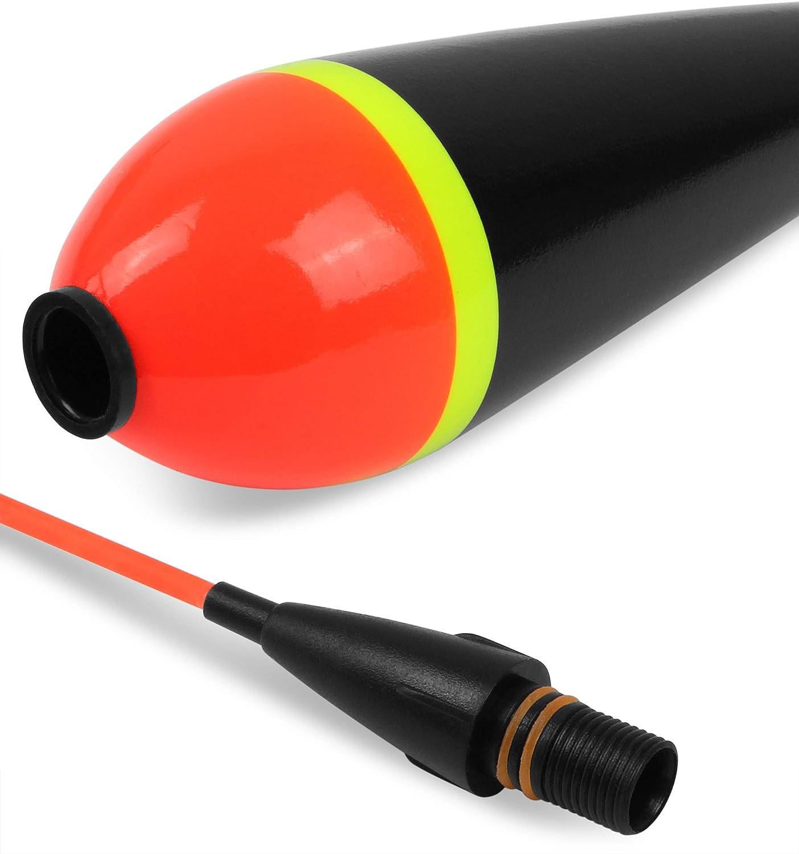 Storfisk fishing /& more 2 x Elektro LED Pose mit Schraubverschluss zum Nachtangeln