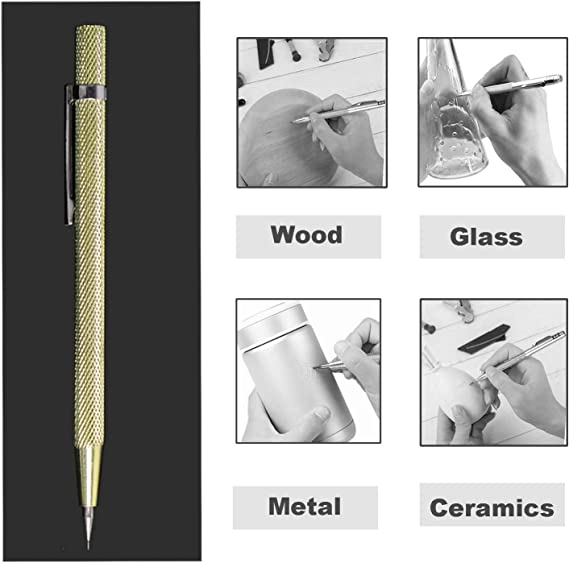 Double End Sharp Tungsten Steel Tip Scriber Clip Pen Ceramics Glass Shell Metal