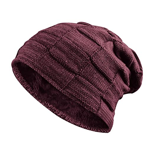 Hootech Slouchy Cable Knit Cuff Beanie - Chunky 9973abcc87c