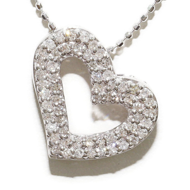 K14 14金 WG ホワイトゴールド ネックレス ダイヤ 0.37 中古ジュエリー 【中古】 B076CW9F1N